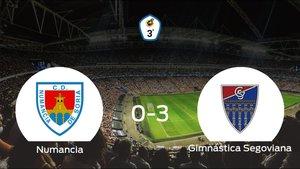 La Gimnástica Segoviana suma tres puntos tras pasar por encima del Numancia B (0-3)