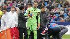 Diego López recibió un fuerte golpe en la cabeza durante el Levante-Espanyol