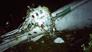 Las imágenes del accidente de avión del Chapecoense