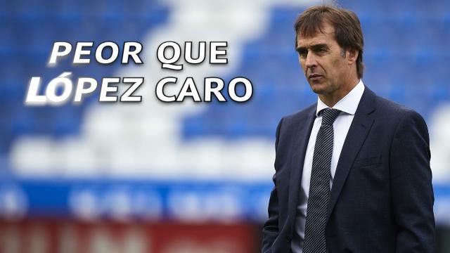 Lopetegui, peor que López Caro