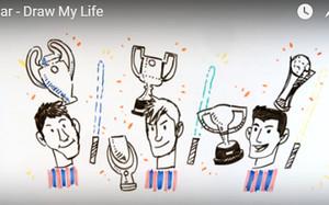 En los dibujos se recuerdan los cinco títulos