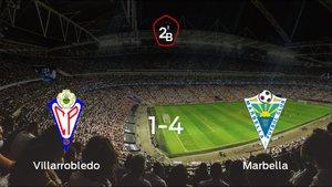 El Marbella muestra su poderío tras golear al Villarrobledo (1-4)