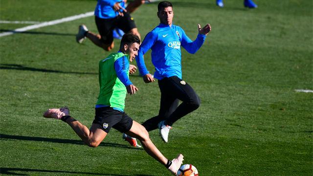 Máxima expectación en el primer entrenamiento del Boca en Madrid