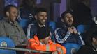 Messi vio la victoria de Argentina en el palco con Agüero