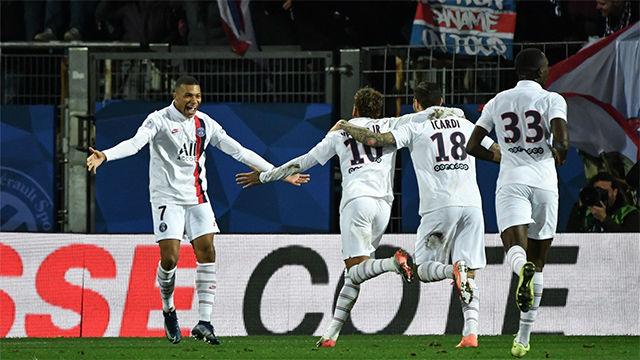 Neymar y Mbappé remontan al Montpellier (1-3)