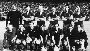 El once inicial del Barça que se impuso al Real Madrid en la final de Copa celebrada en julio de 1968