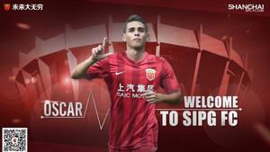 Oscar es nuevo jugador del Shanghai SIPG.
