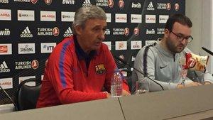 Pesic, durante la conferencia de prensa de esta tarde