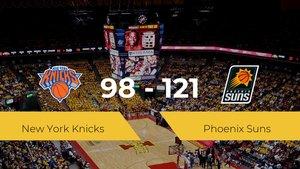 Phoenix Suns vence a New York Knicks por 98-121