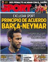 La portada de Sport del 25 de junio