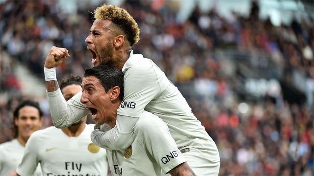 El PSG vence y sin convencer ante el Rennes (1-3)