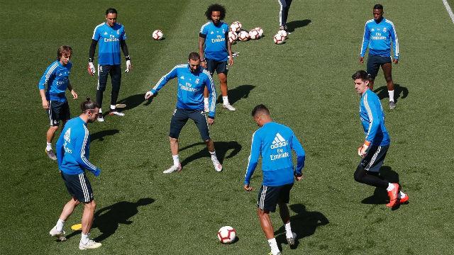 El Real Madrid realiza el último entrenamiento del curso
