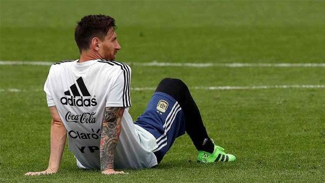 Relajado entreno de Argentina a tres días de su debuit en el Mundial