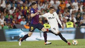 Rodrigo fue uno de los vergudos del Barça la pasada Copa del Rey