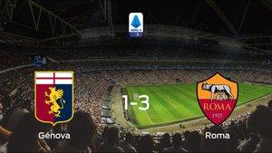 La Roma se lleva el triunfo después de ganar 1-3 al Génova