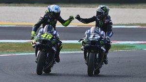Rossi felicita a Viñales por su pole position