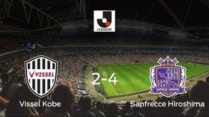 El Sanfrecce Hiroshima derrotó al Vissel Kobe por 2-4