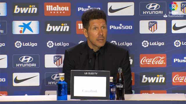 Simeone: El Barcelona no deja de ganar