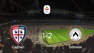 El Udinese se lleva tres puntos tras ganar 1-2 al Cagliari
