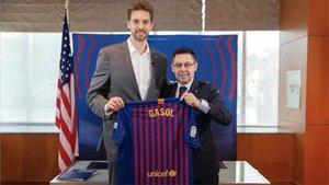 La vinculación de Pau con el Barça no pasará de ser ambajador