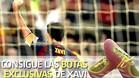 Xavi lucirá este sábado unas botas personalizadas con las que se rinde tributo a su carrera en el FC Barcelona