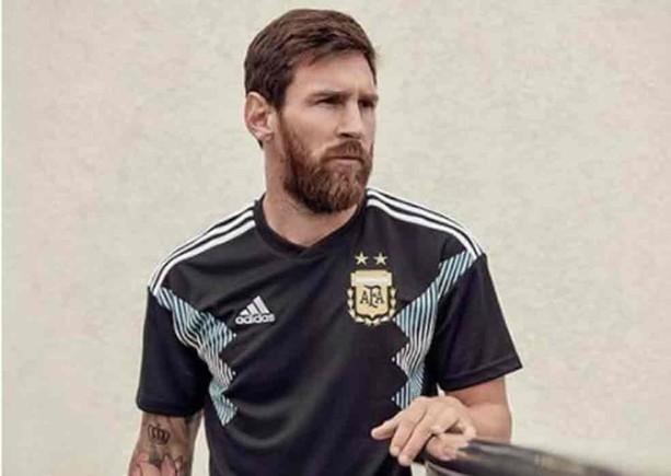 Messi, con la camiseta