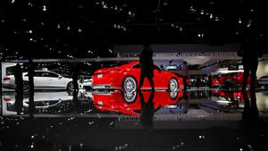 Zona de Audi en el Salón del Automóvil de Detroit.