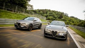 Alfa Romeo Stelvio y Giulia NRING en Nürburgring.