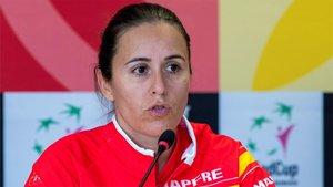 Anabel Medina, capitana española de Fed Cup