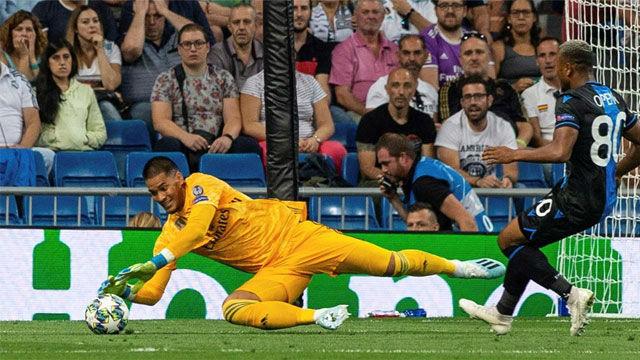 Areola salvó al Madrid de la goleada con una buena parada