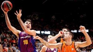 El Barça tuvo que trabajar a dfondo para salir victorioso de Valencia