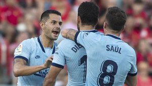 Costa celebrando su único gol en liga