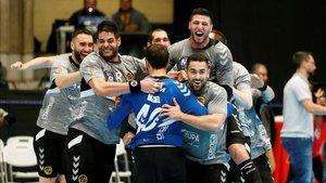 El Cuenca celebró el pase a la final como si fuera campeón. Ha superado las expectativas