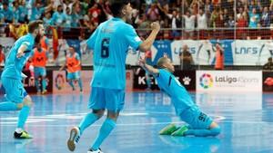 Elisandro, celebrando el gol del empate