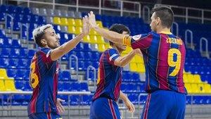 El equipo de Andreu Plaza ganó 6-2 al FE Zaragoza este miércoles en el Palau Blaugrana