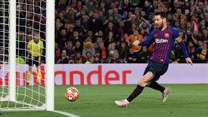 En esta acción marcó Leo Messi el 2-0 para el Barça