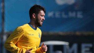 Ferreyra, en el entrenamiento del Espanyol