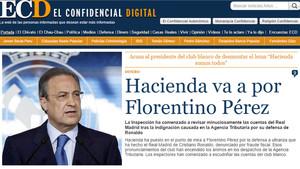 Florentino Pérez, en el punto de mira de Hacienda