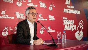 Font compareció en el Centre Cívic Tomasa Cuevas de Barcelona