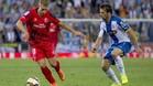 Gerard Deulofeu con Víctor Sánchez en el Espanyol-Sevilla (1-2)