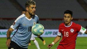 Giorgian de Arrascaeta es titular en la selección de Uruguay