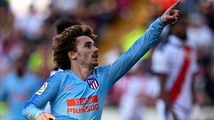 Griezmann anotó el gol del triunfo en Vallecas