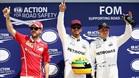 Hamilton, franqueado por Vettel y Bottas tras la crono