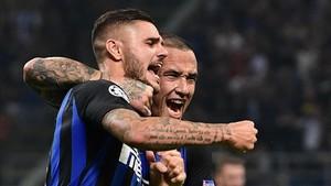 Icardi se erigió como el héroe del Inter.