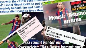 Impacto mundial de las declaraciones de Messi a SPORT