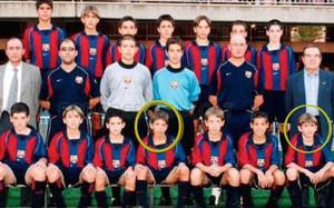 Jordi Alba y Aleix Vidal compartieron equipo en el Infantil B del FC Barcelona