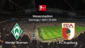 Jornada 3 de la Bundesliga: previa del duelo Werder Bremen - FC Augsburg