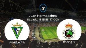 Jornada 21 de la Tercera División: previa del duelo Atlético Albericia - Racing B