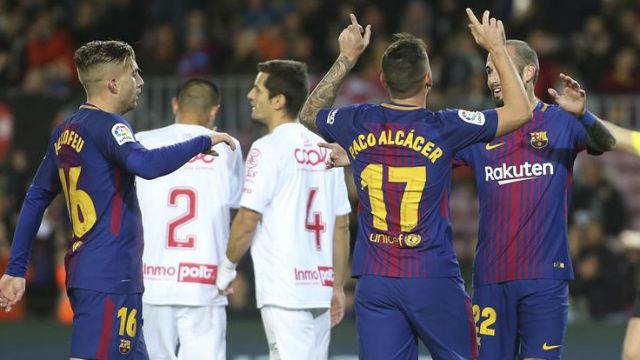 LACOPA | FC Barcelona - Murcia (5-0): El gol de Paco Alcácer