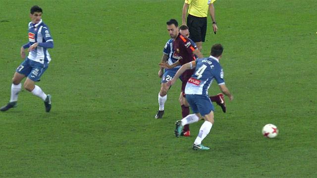 LACOPA | Espanyol - FC Barcelona (1-0): Regate y ruleta de Busquets